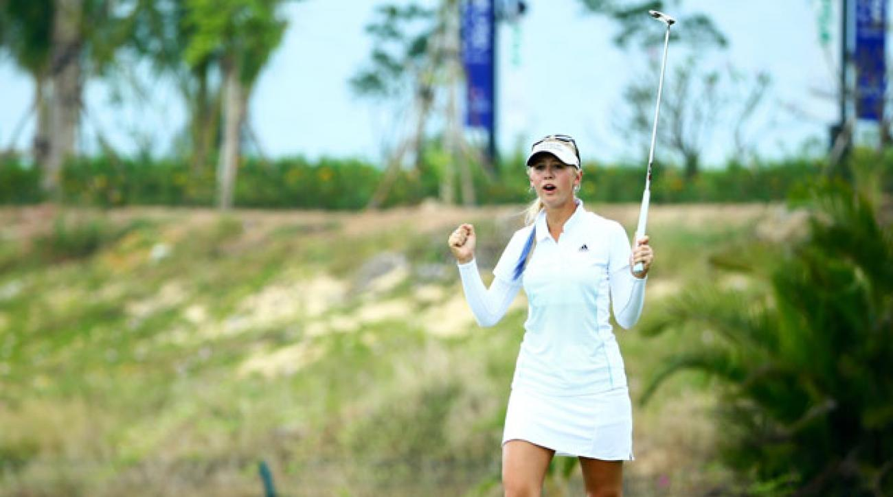 Jessica Korda shot a 6-under 66 in round 1 of the Blue Bay LPGA.