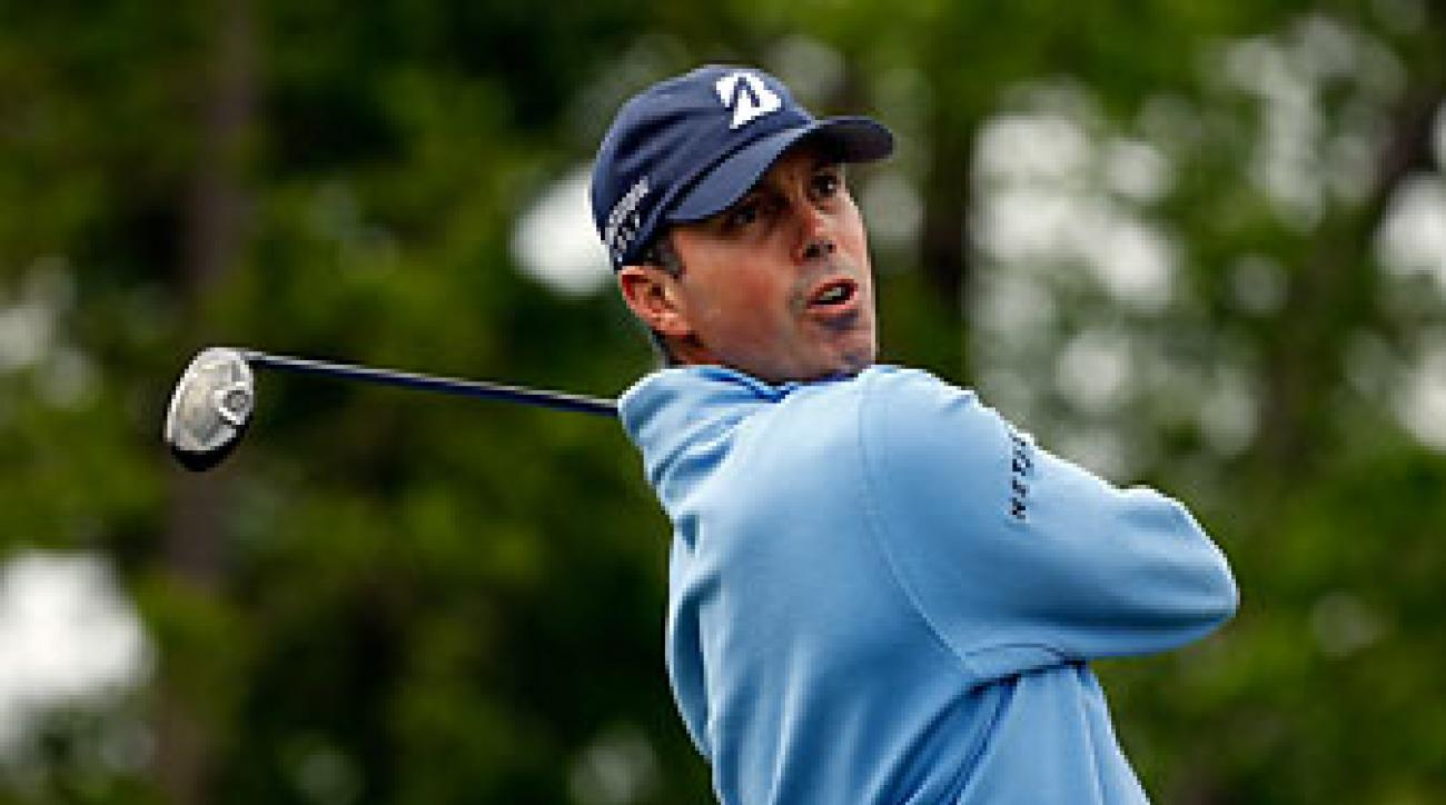 Matt Kuchar on the ninth hole during the third round of the Shell Houston Open on Saturday.