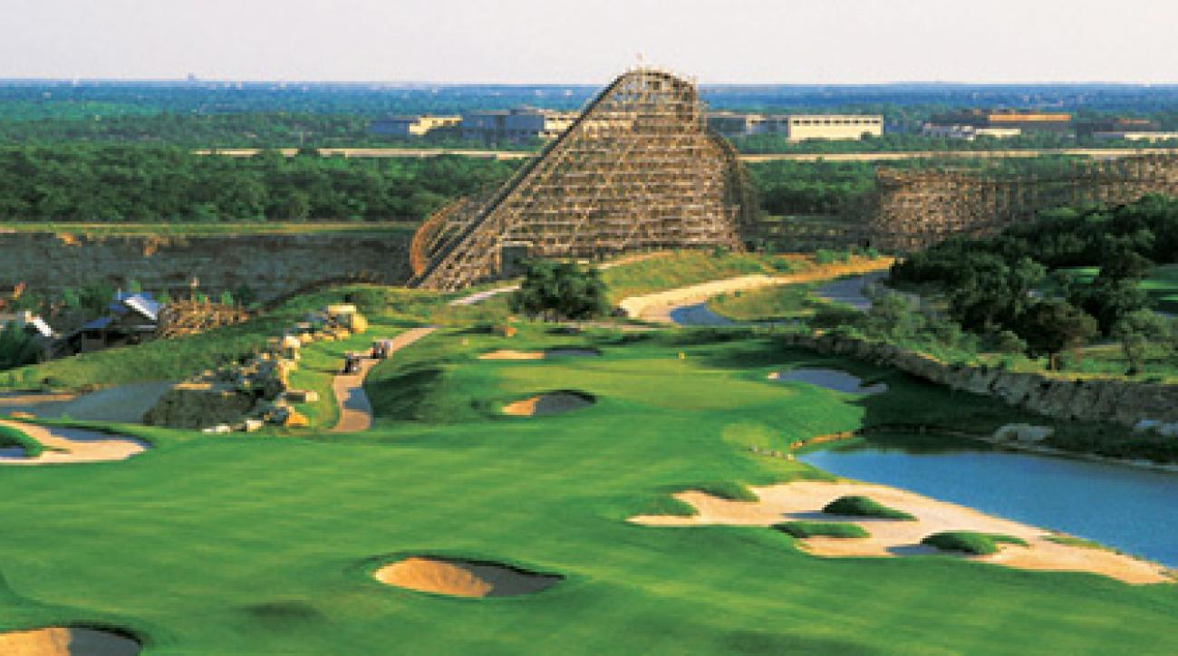 La Cantera is located next to the Fiesta Texas theme park and SeaWorld