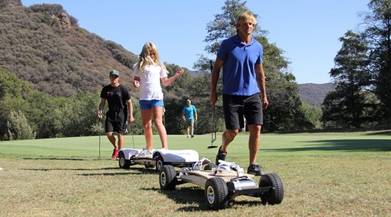 Laird Hamilton plays a round on the GolfBoard.