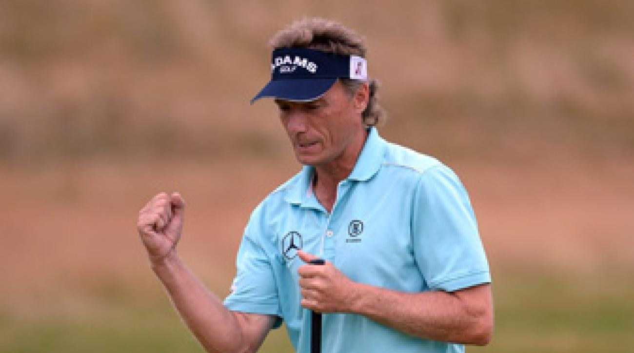 Bernhard Langer made five birdies and a bogey on Saturday.