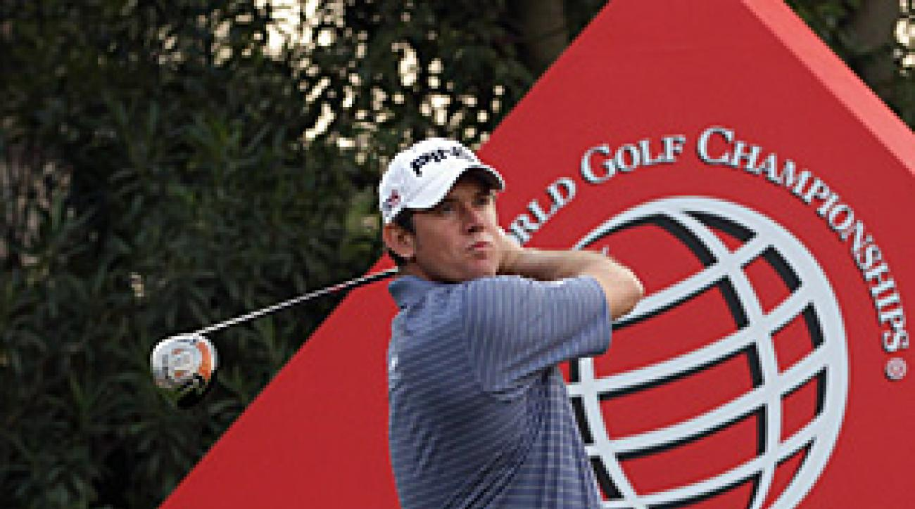 Lee Westwood shot a two-under 70 on Friday to move to eight-under, one shot back of Francesco Molinari.
