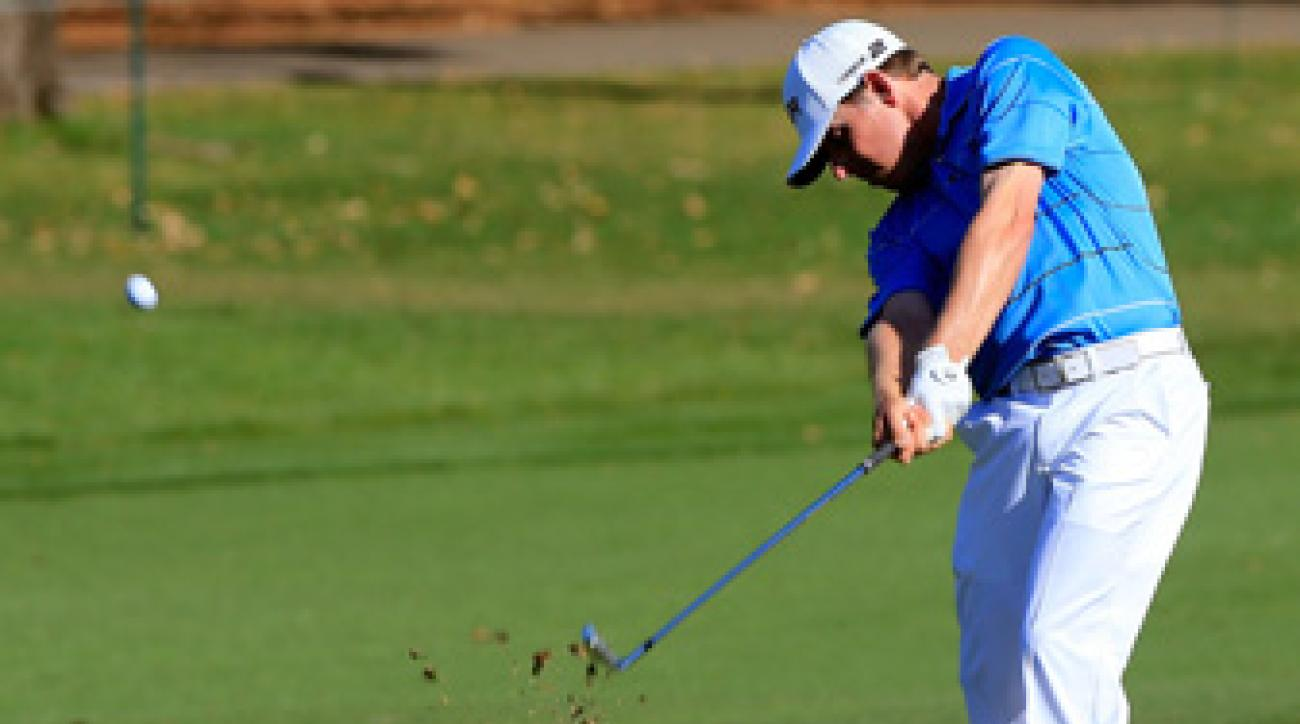 Justin Leonard made five birdies and a bogey on Saturday.