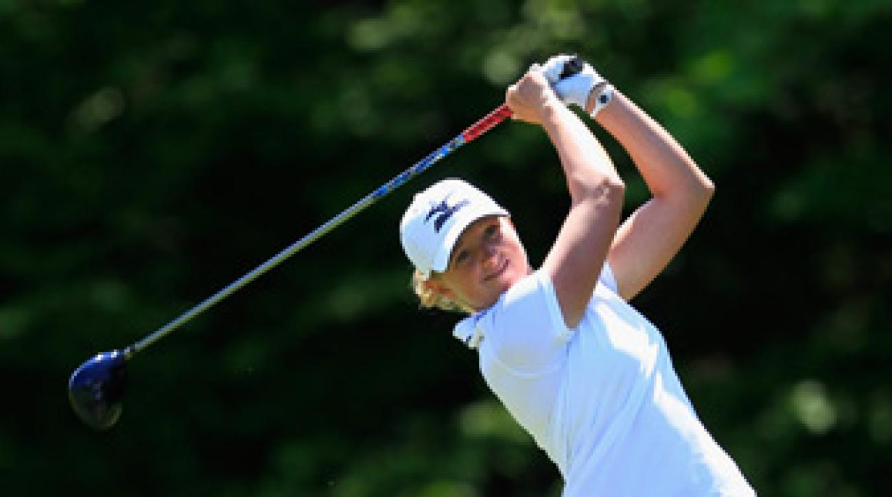 Stacy Lewis beat Sandra Gal, 4 and 3.
