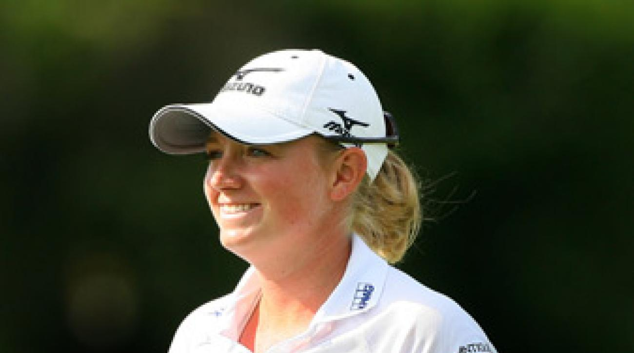 Stacy Lewis made eight birdies and a double bogey.