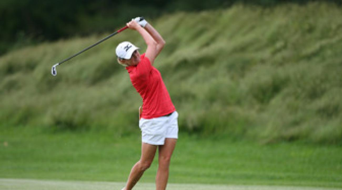 Stacy Lewis made an eagle, six birdies and a double bogey.