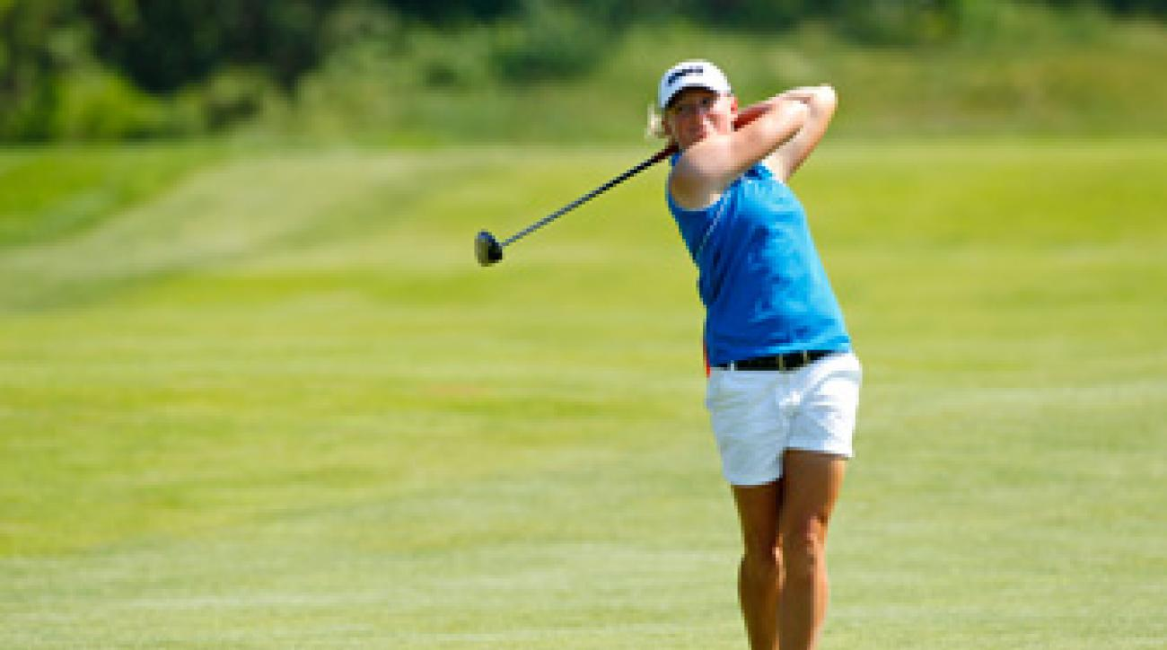Stacy Lewis made five birdies and a bogey on Friday.