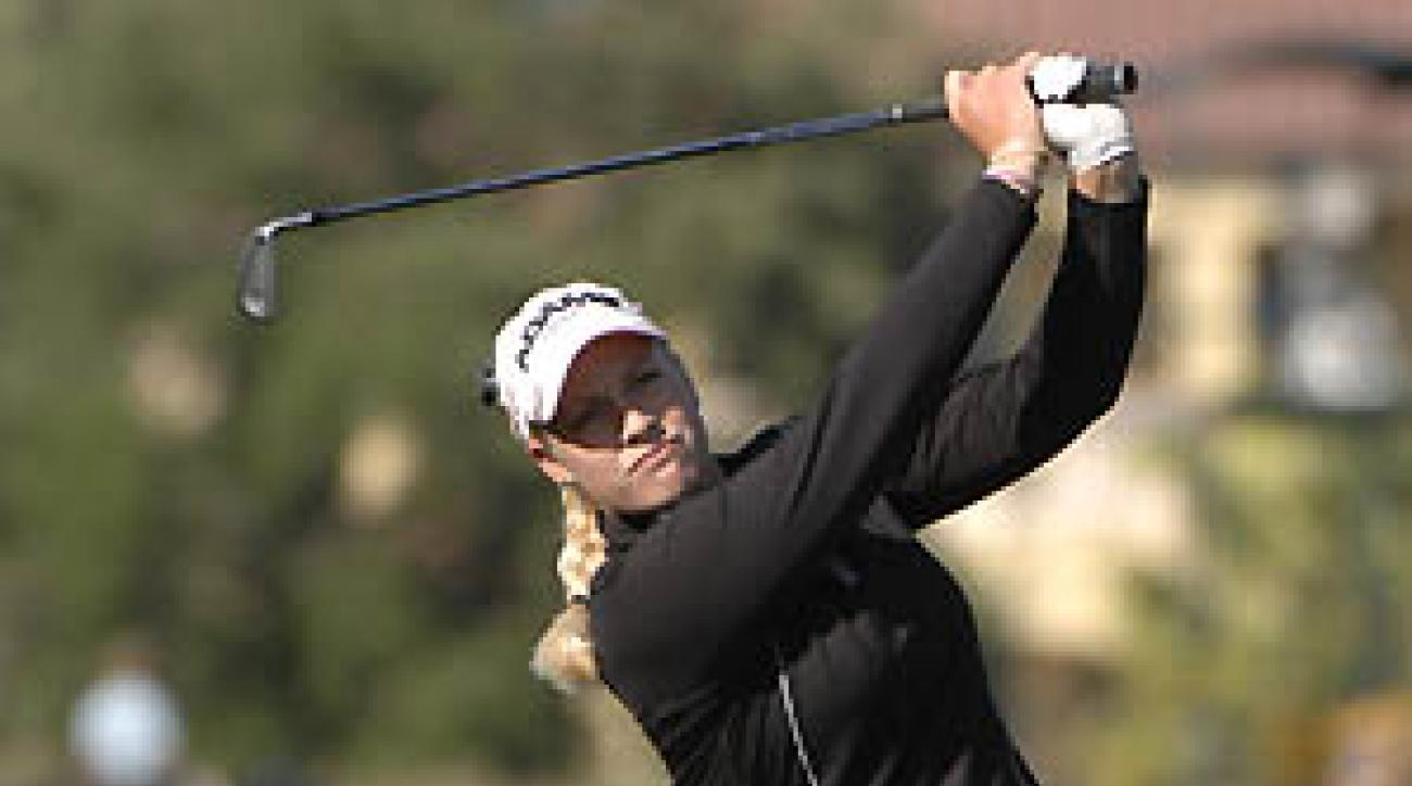 Brittany Lincicome wins the 2007 Ginn Open at Ginn Reunion Resort in Reunion, Florida.