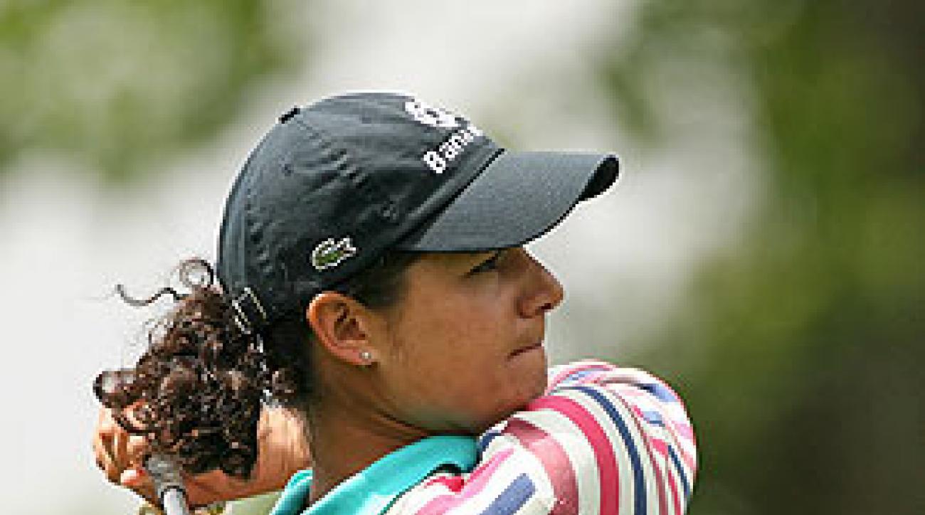 Lorena Ochoa shot a seven under 64.