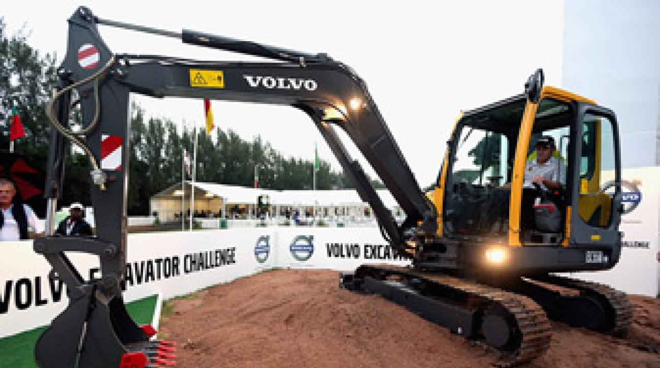 Louis Oosthuizen plans to use the excavator on his farm in South Africa.