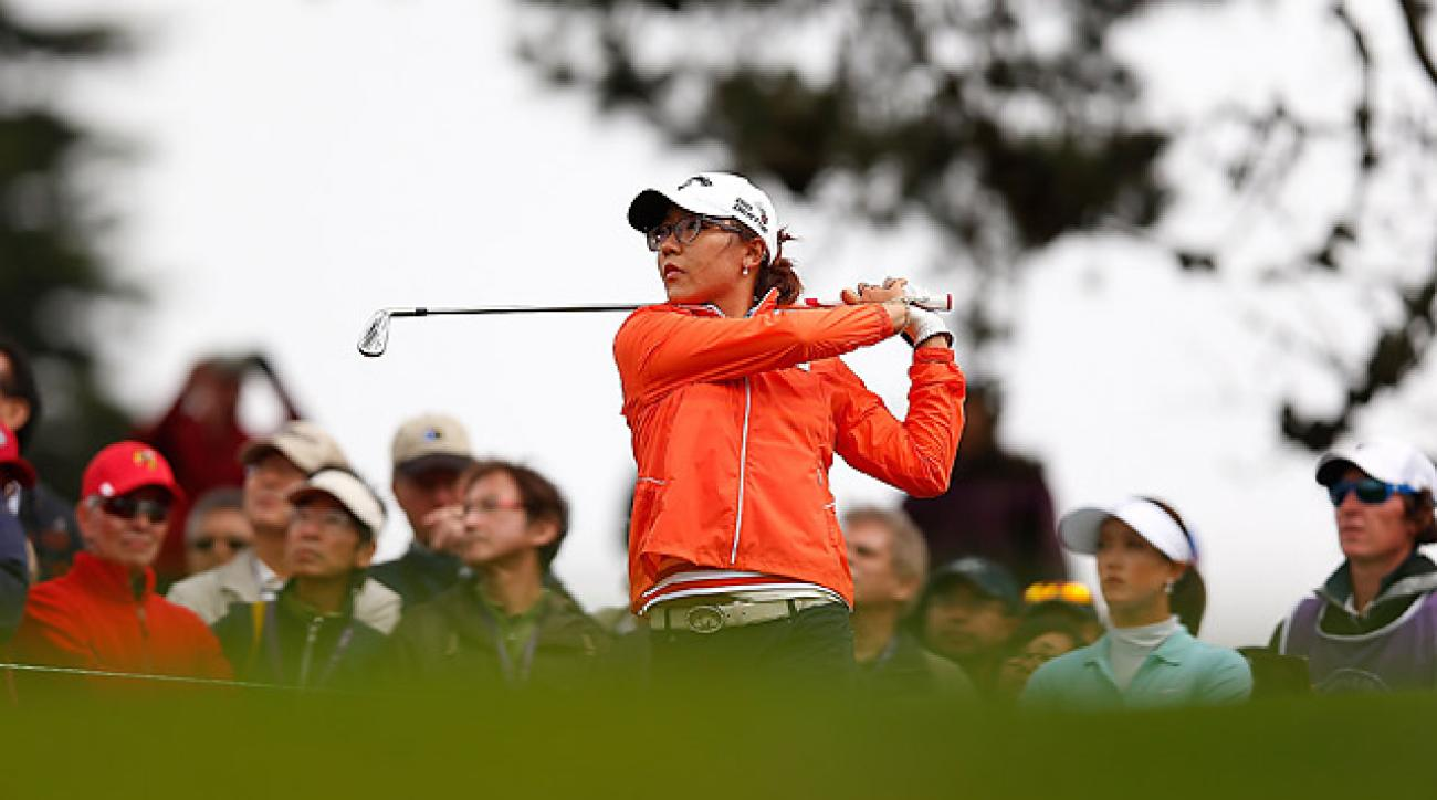 Lydia Ko, playing on her 17th birthday, fired a 68.