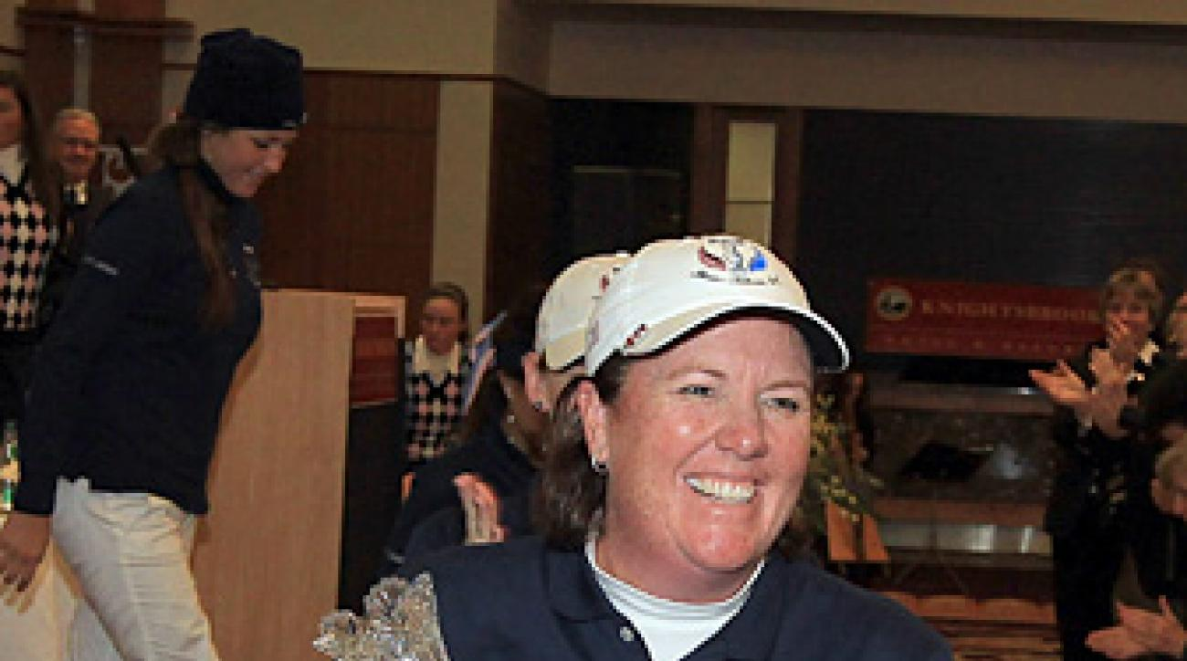 Meg Mallon captained the U.S. team to a victory at the 2011 Junior Solheim Cup.