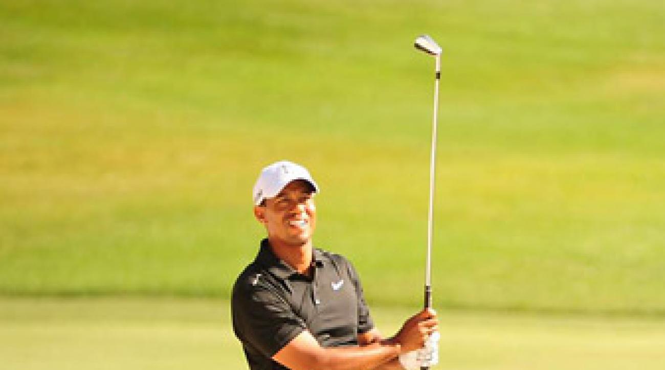 Tiger Woods shot a three-under 69 in the first round.