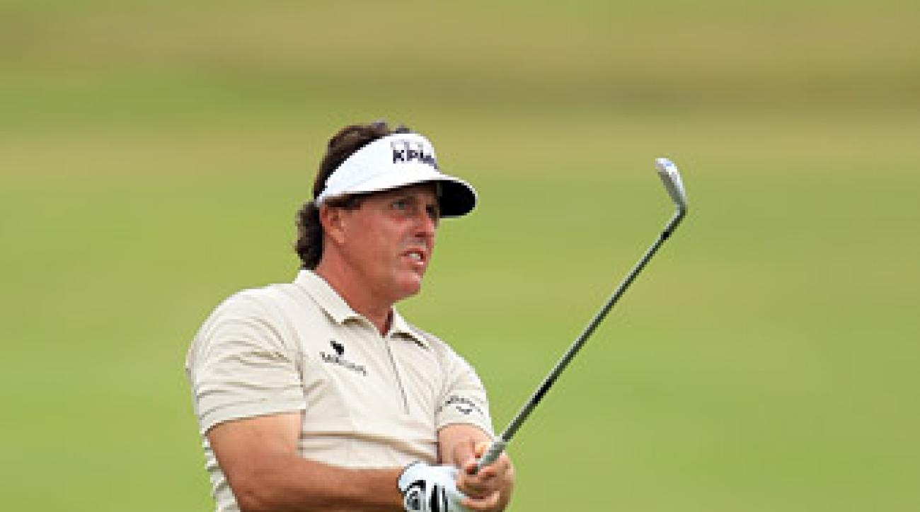 Phil Mickelson shot an even-par 72 in the first round.