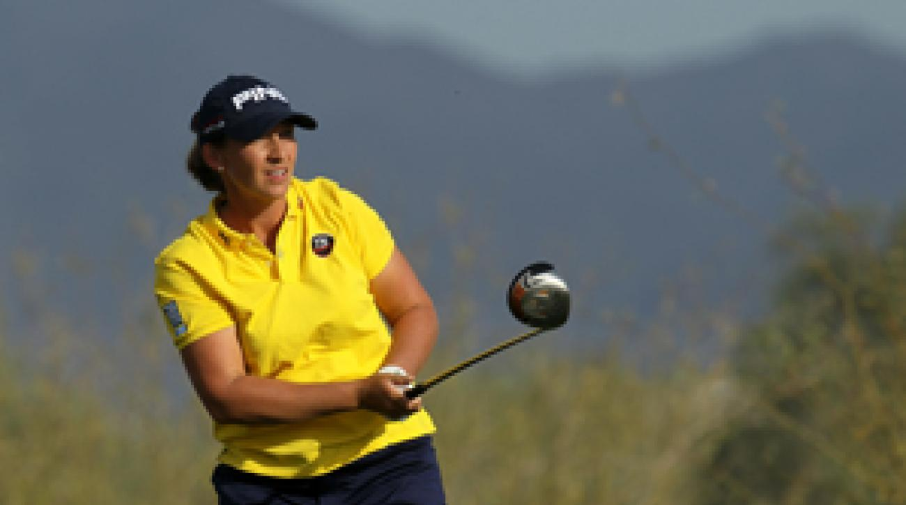 Angela Stanford made six birdies, an eagle and a double bogey.