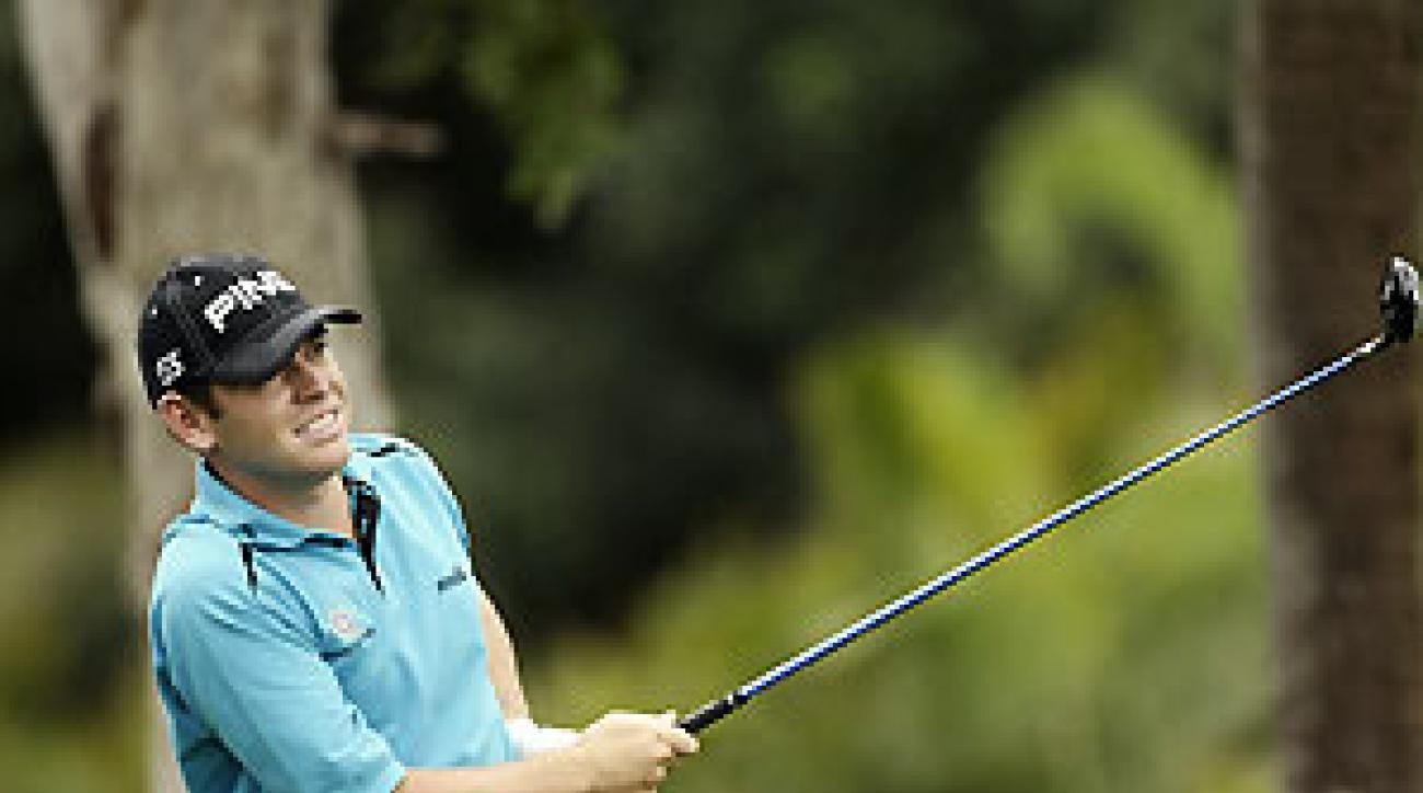 """It should be great fun,"" Louis Oosthuizen said of playing with Tiger Woods. ""But I wish my clubs would arrive."""