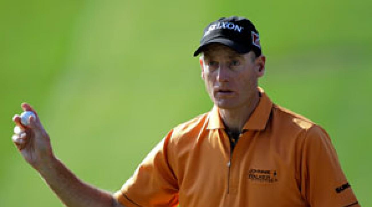 Jim Furyk made four birdies and no bogeys on Saturday.