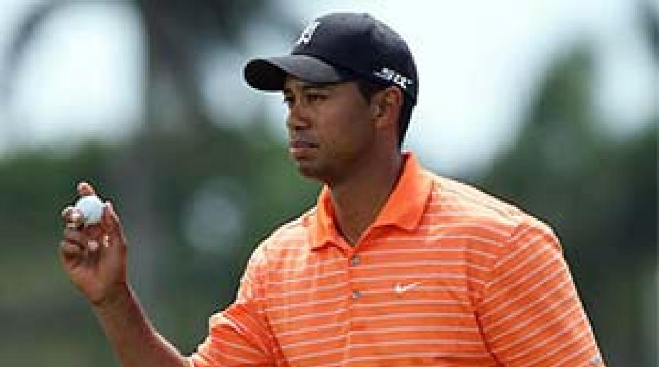 Tiger Woods is going for his third straight victory at Doral.