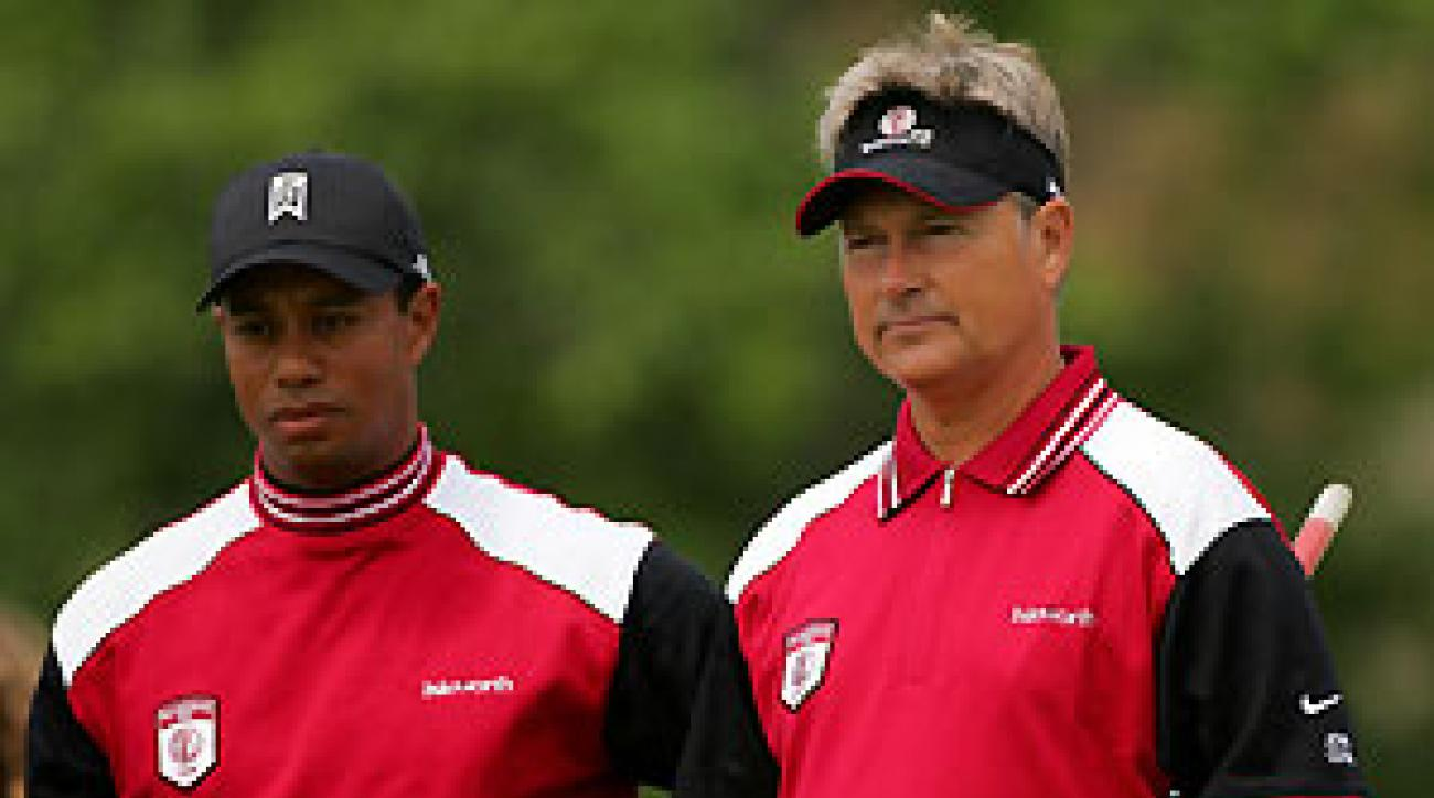 Tiger Woods and John Cook earned one point for team Isleworth.