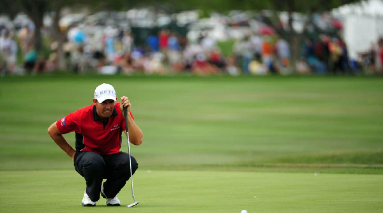 Padraig Harrington made four bogeys and a birdie for a 73.