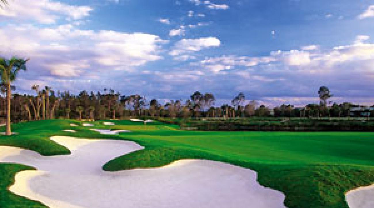The 4th hole at the Old Palm Golf Club in Palm Beach Gardens, Fla.