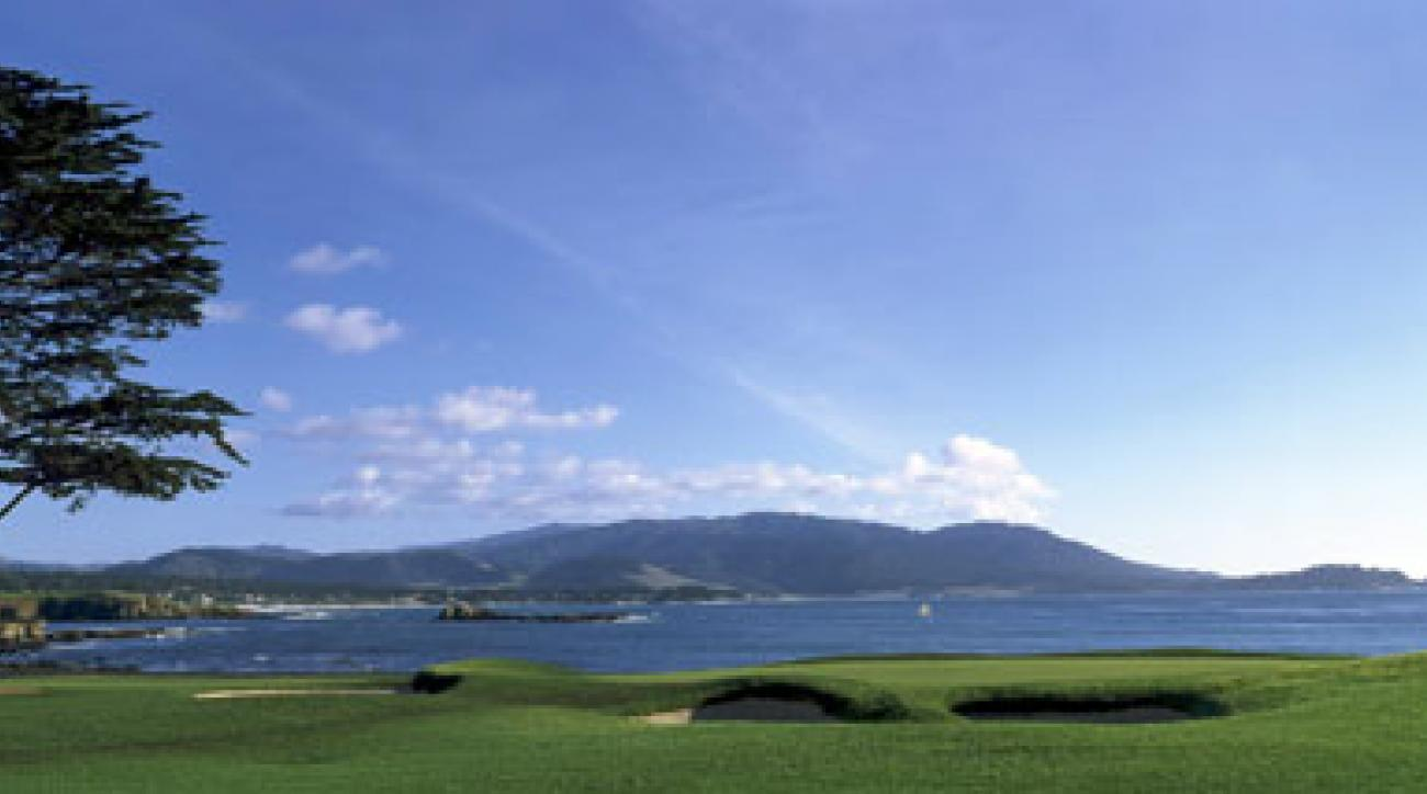 The 18th at Pebble Beach Golf Links.