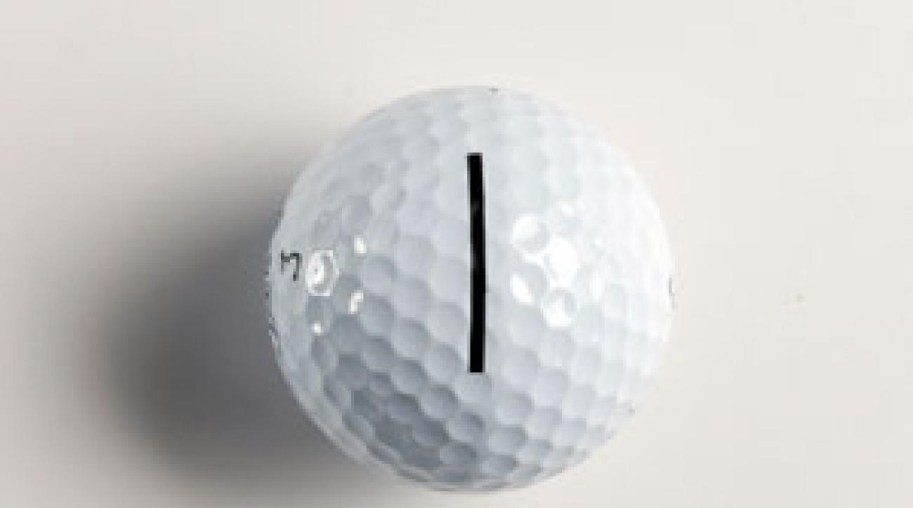 Drawing alignment aids on your ball may seem like a good idea, but you'll make more putts if you draw a line with your eyes.