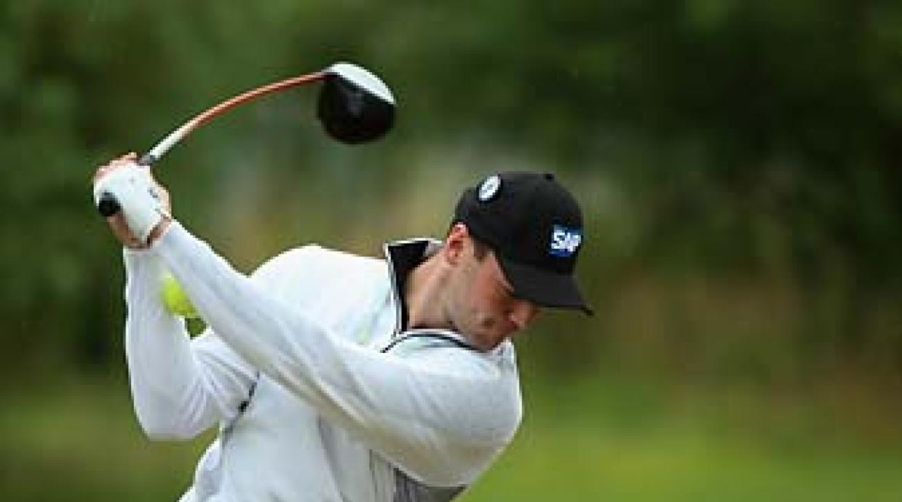Martin Kaymer practices with a tennis ball on Wednesday at Royal Liverpool.