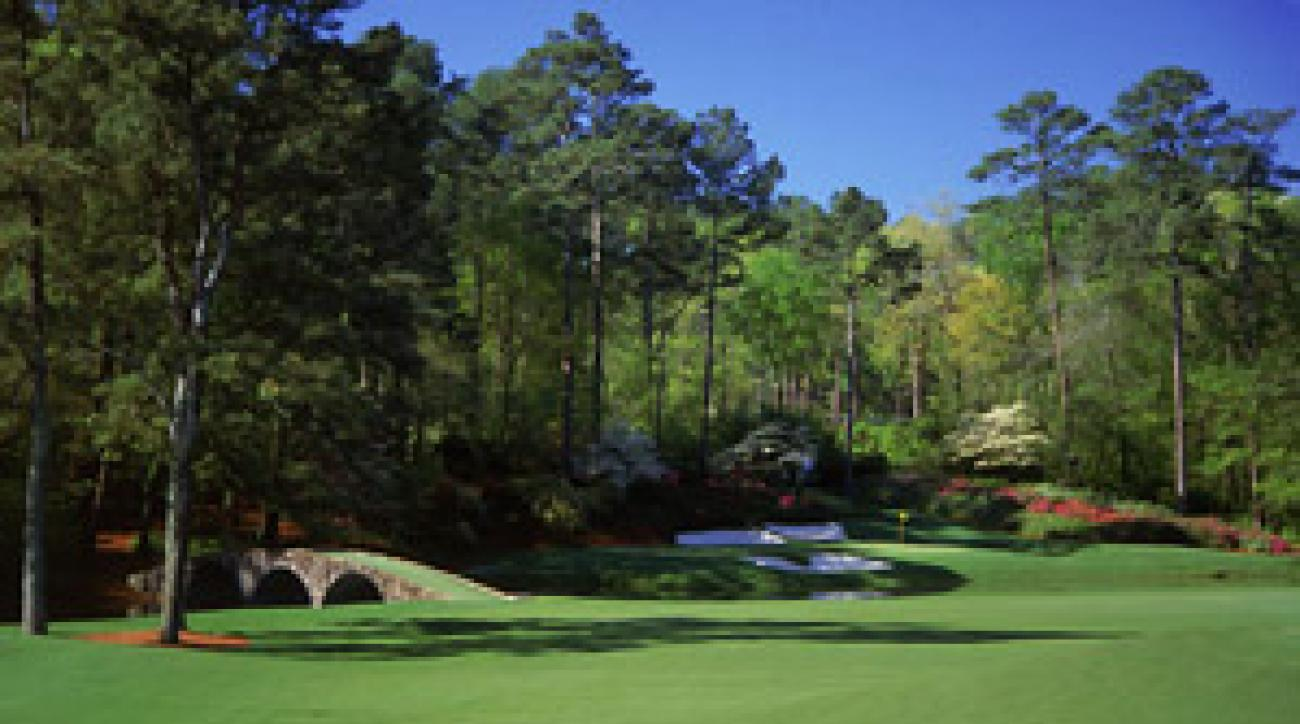 The 12th hole at Augusta National.