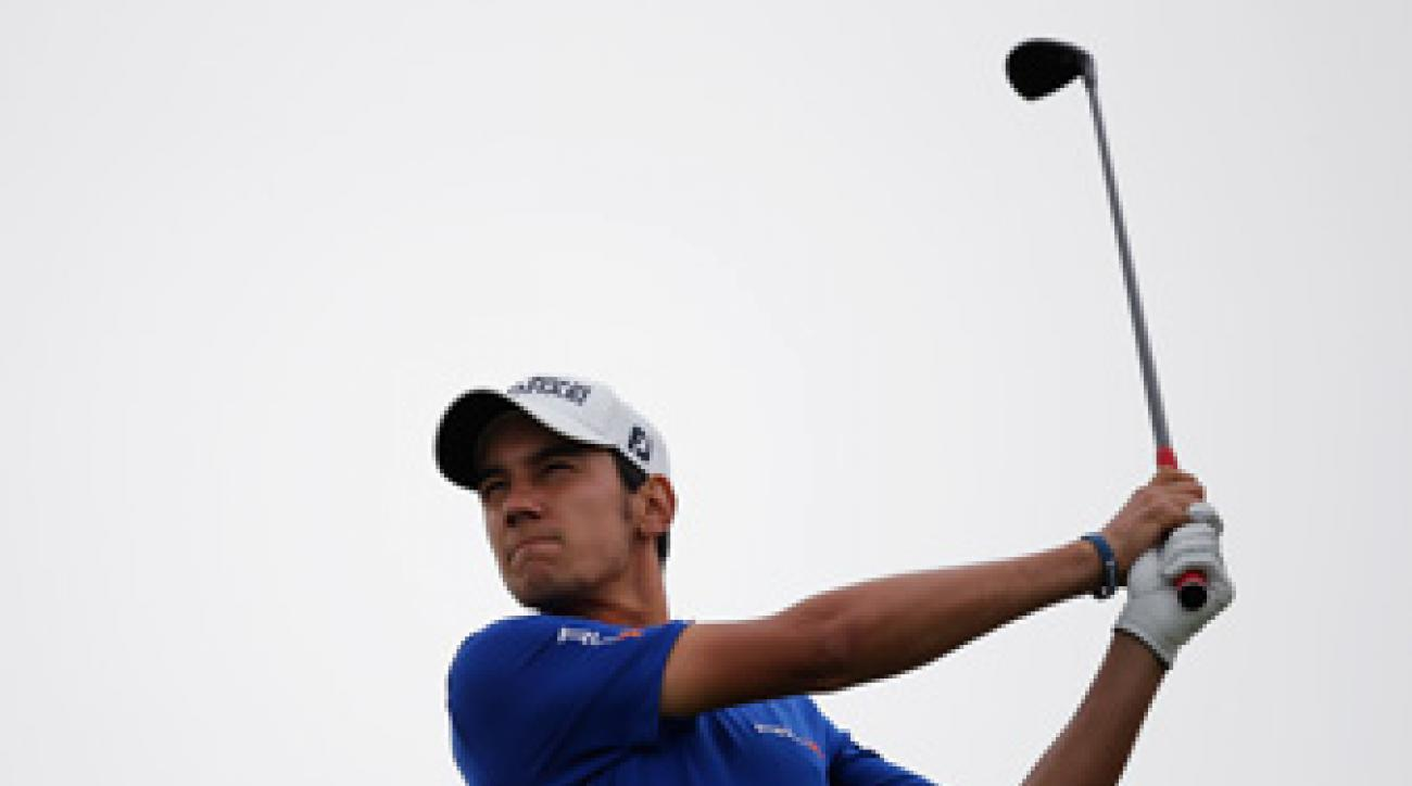 Matteo Manassero made four birdies, a bogey and a double bogey.