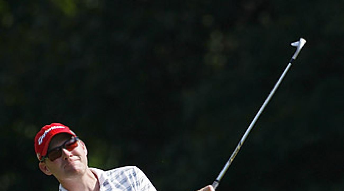 """Troy Matteson shot a 61 to take a three-shot lead. <strong><a href=""""http://www.golf.com/photos/2012-john-deere-classic/steve-stricker-round-1"""">More photos</a></strong>"""