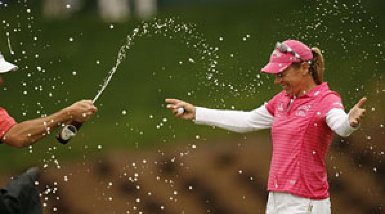 Annika Sorenstam won the Michelob Ultra Open on Sunday.