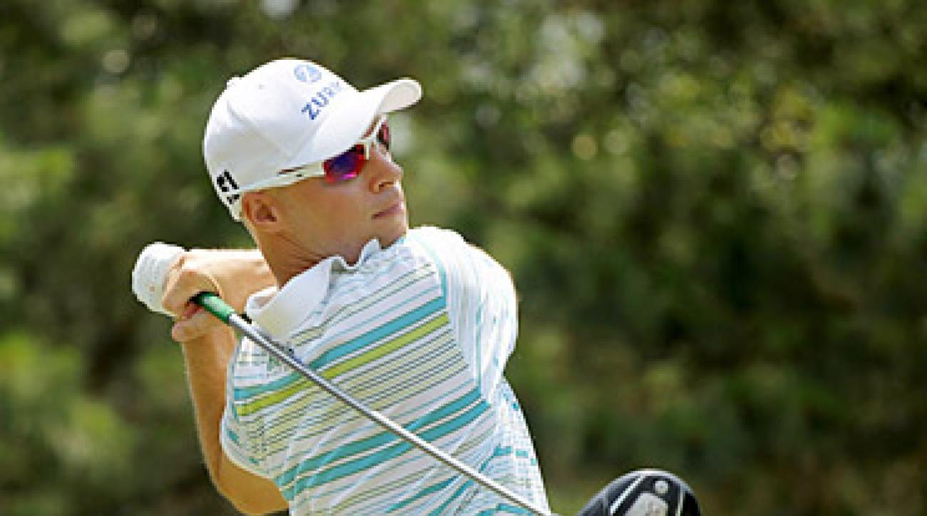 Ben Crane took advantage of multiple fortuitous bounces in the first round at TPC Sawgrass.