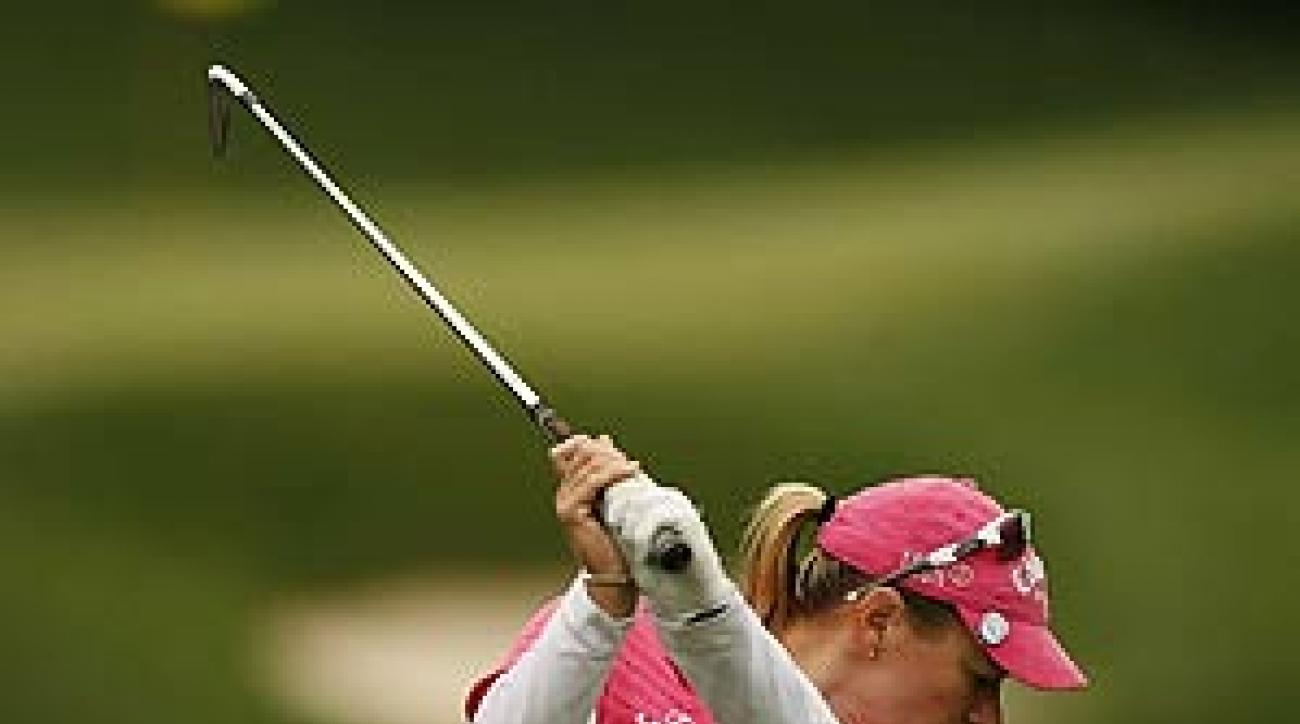 Sorenstam's third victory of the season was her first with Ochoa in the field since September 2006.