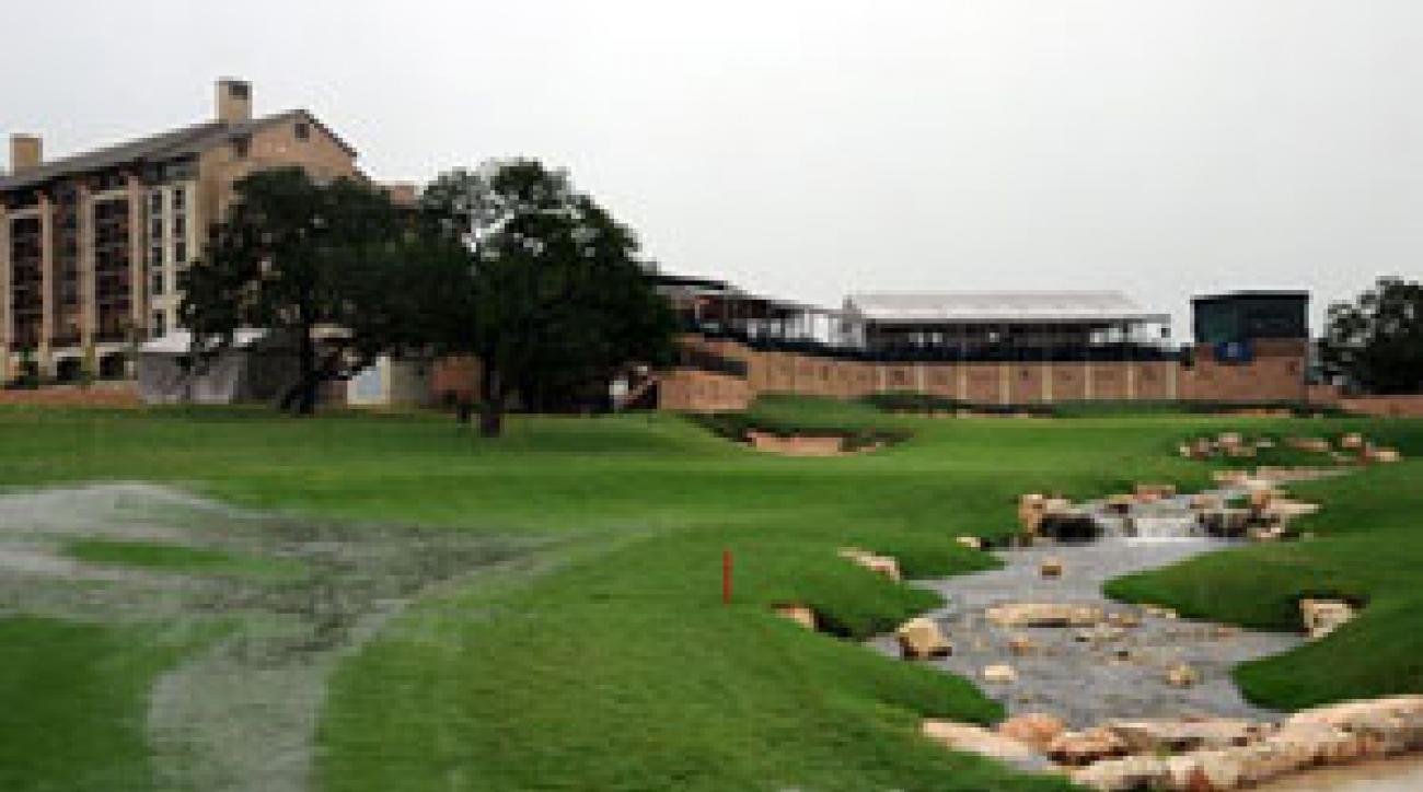 More than three inches of rain fell in San Antonio.