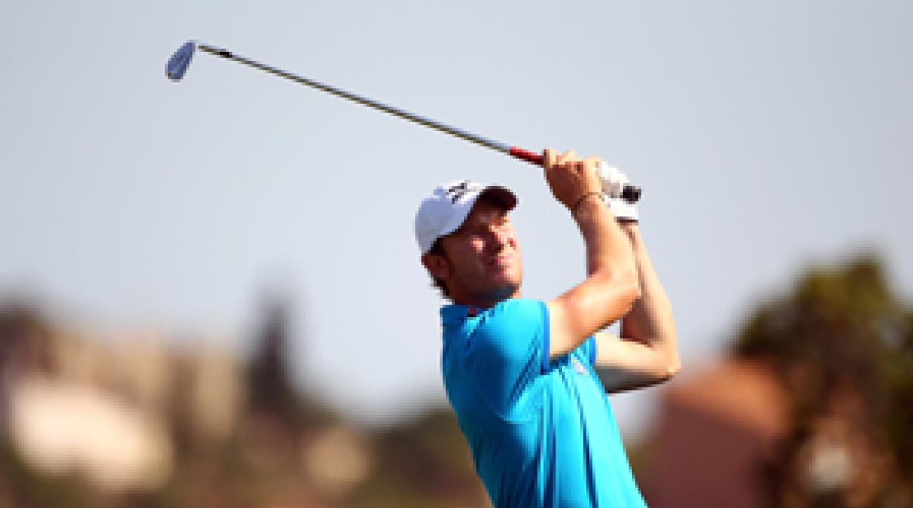 Chris Wood made two birdies and one bogey on Saturday.