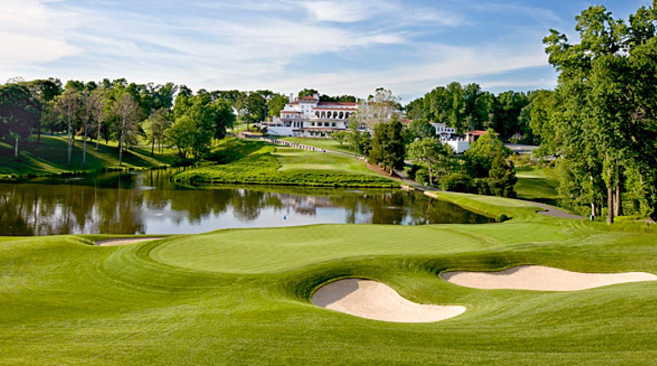 The new 10th hole on the Blue Course at Congressional Country Club is on the site of the old 18th hole, changed during the redesign for the 2011 U.S. Open.