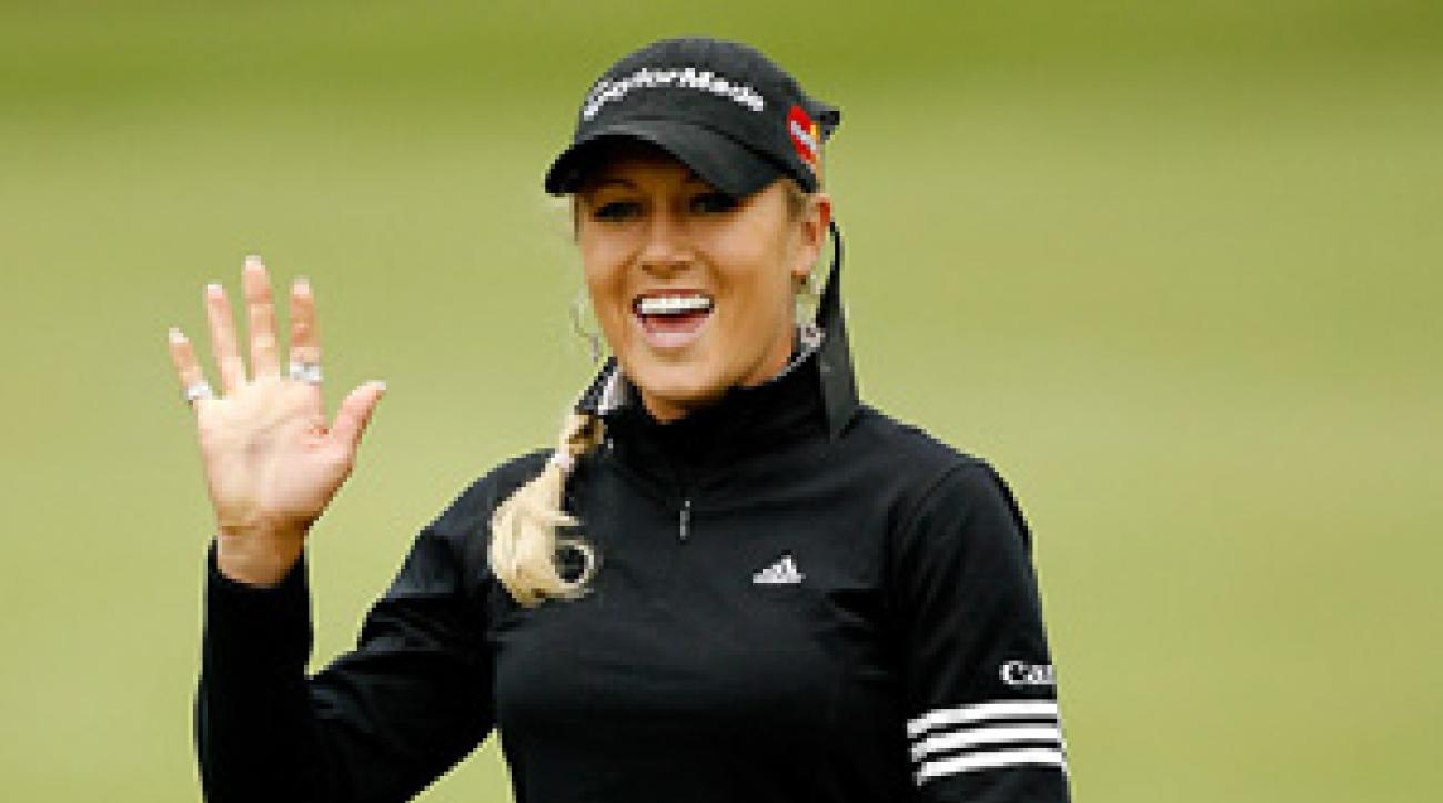 Natalie Gulbis had a birdie and two bogeys for a one-over 73.