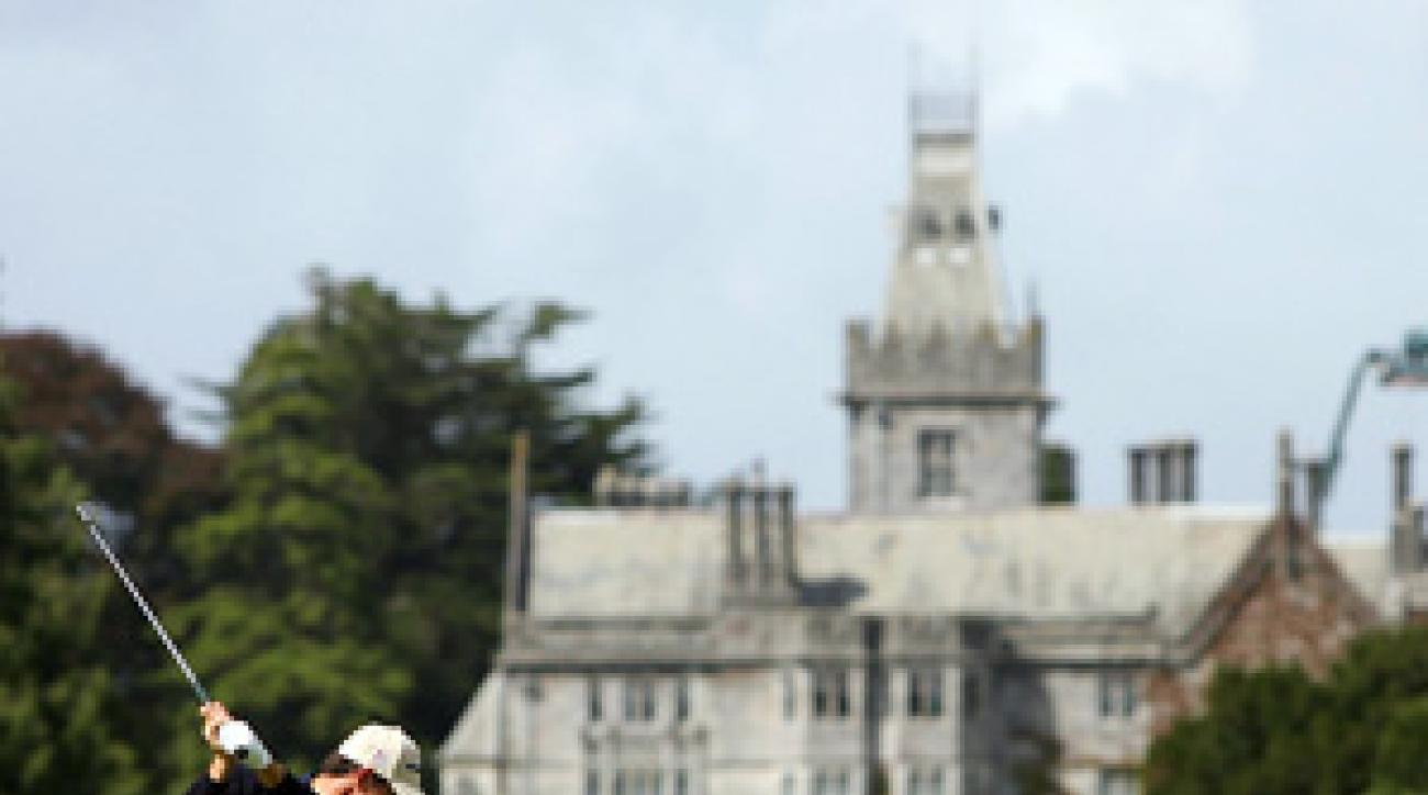 Padraig Harrington is trying to become the first Irishman to win the Irish Open since John O'Leary in 1982