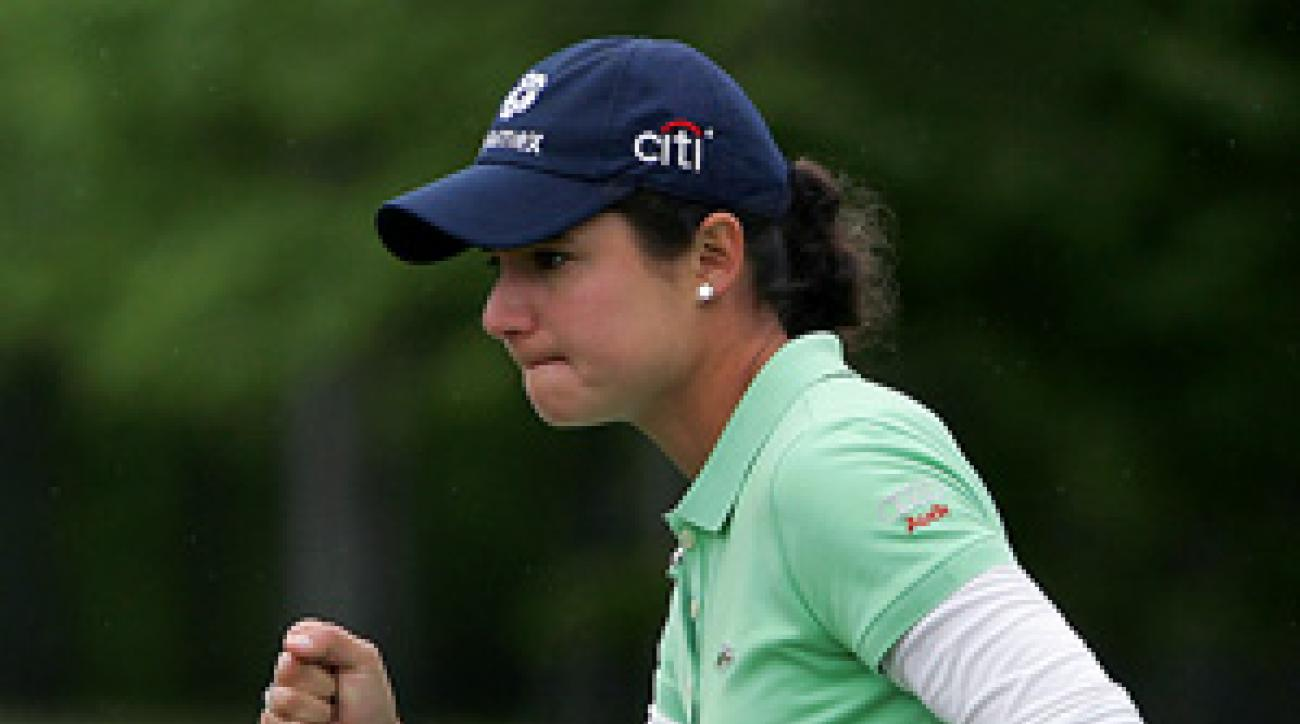 Lorena Ochoa had five birdies, two bogeys and an eagle Saturday.