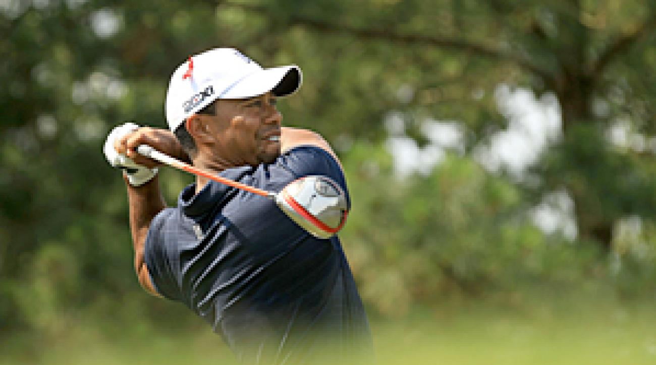 Tiger Woods hasn't played a competitive round since withdrawing after nine holes at the Players Championship.