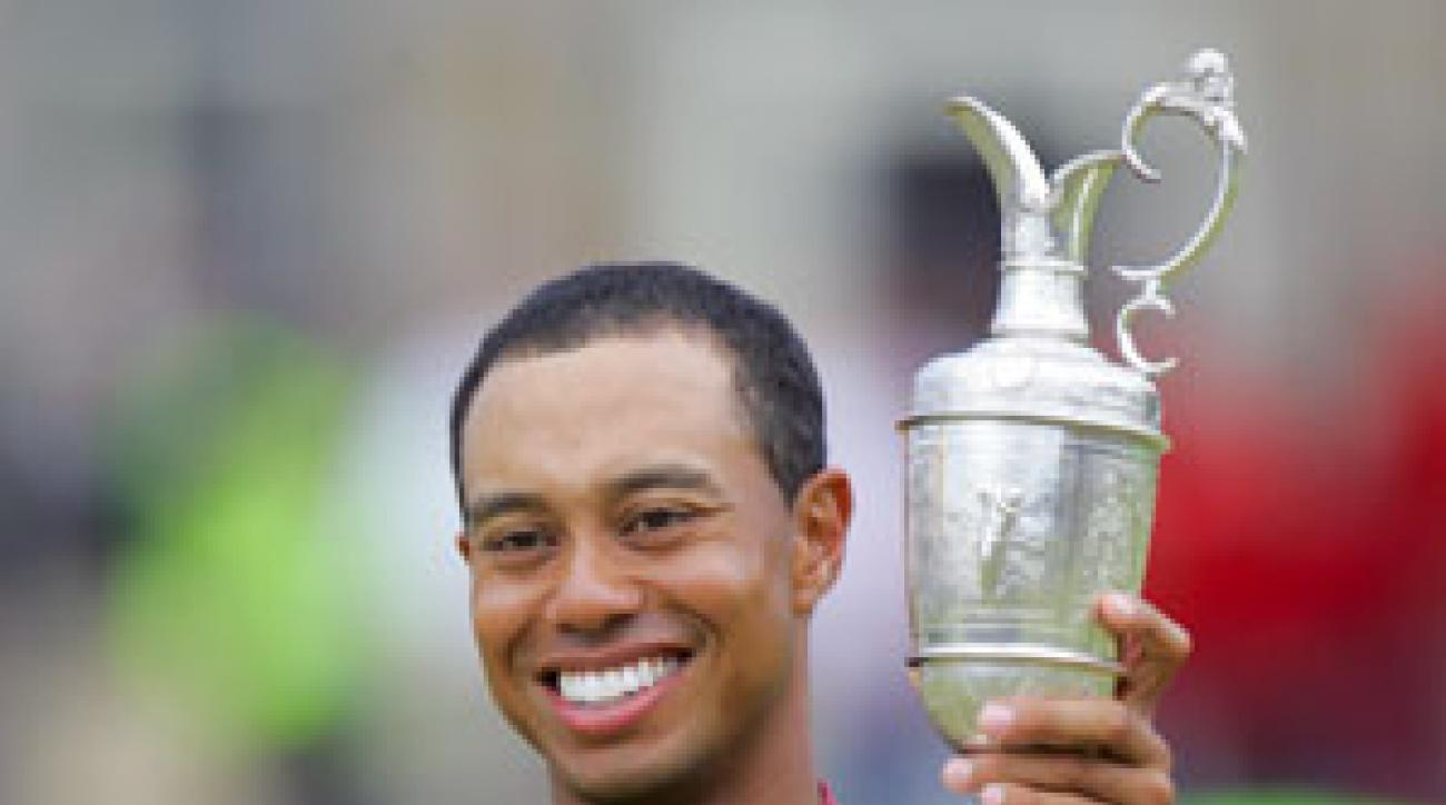Tiger Woods won the British Open at St. Andrews in 2000 and 2005.