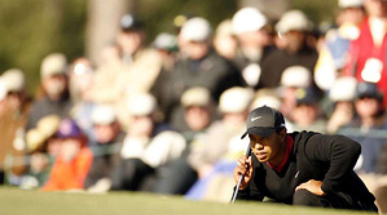 Tiger Woods, who will be playing in a pro-am Wednesday with Michael Jordan, fell to ninth in this week's power rankings.