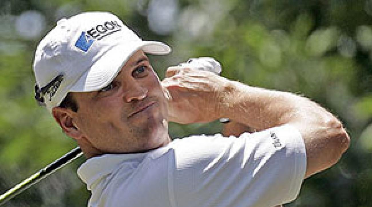 Zach Johnson won the AT&T Classic with a birdie on the first play off hole.