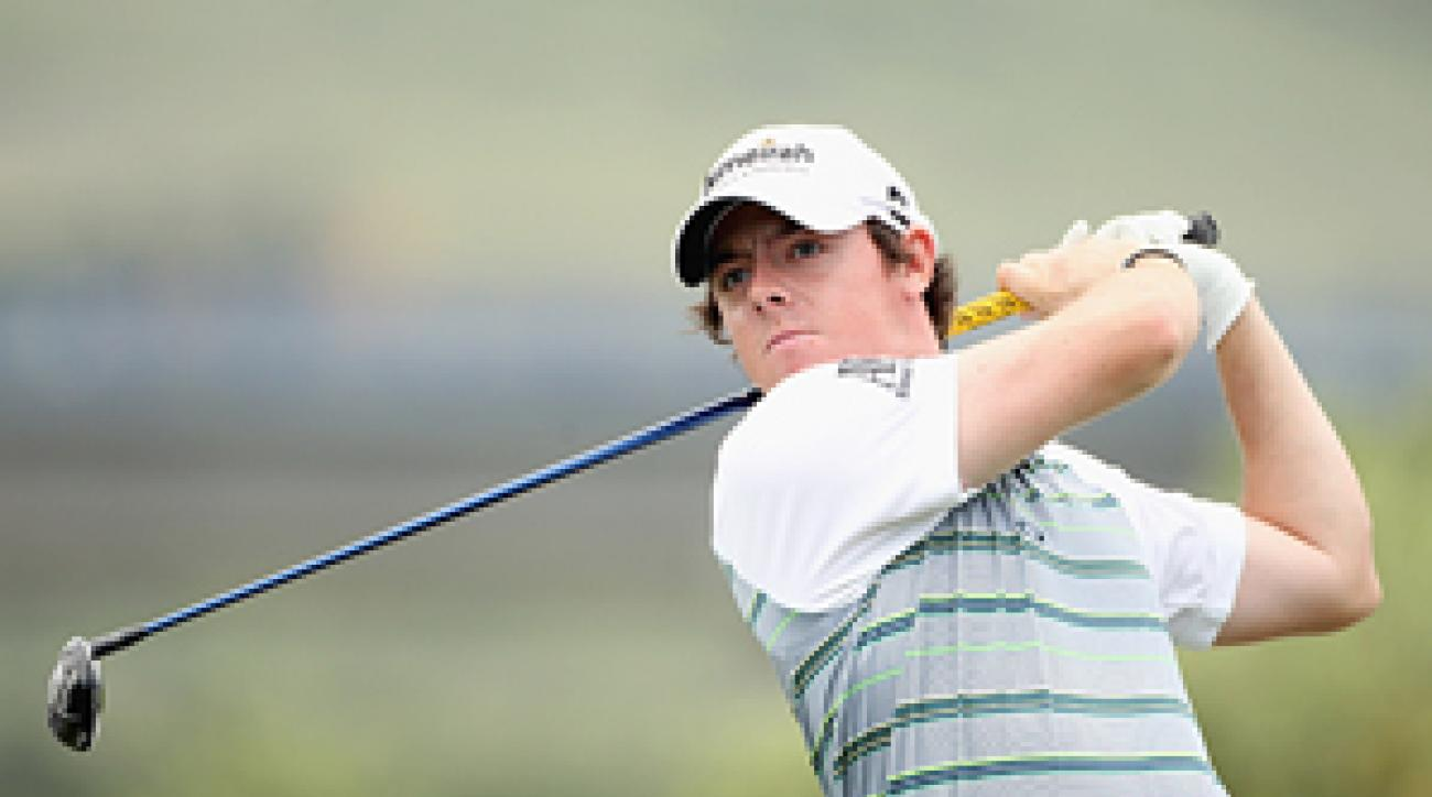 Rory McIlroy will meet Graeme McDowell in the next round of the Match Play.
