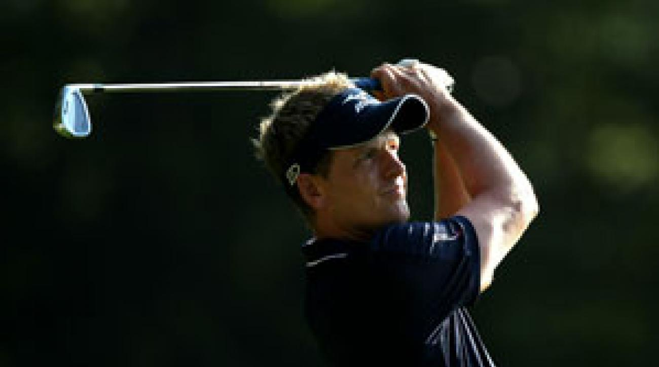Luke Donald made four birdies and a bogey on Friday.