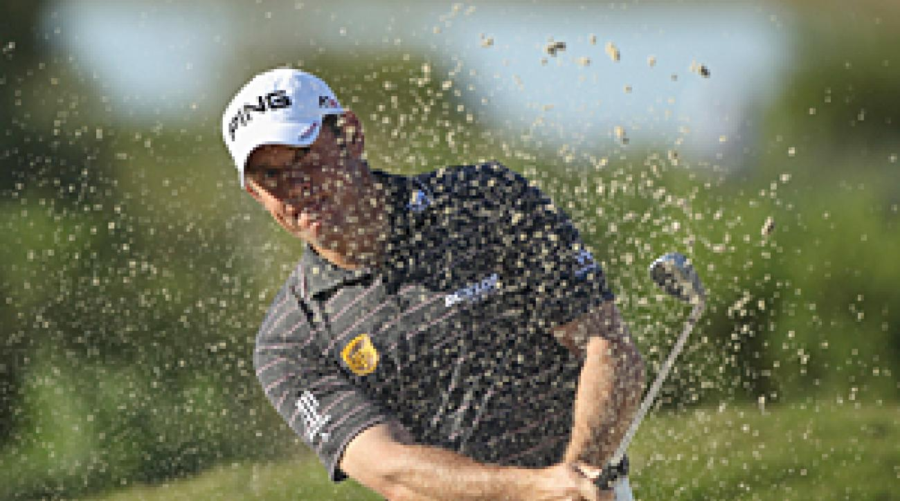 Lee Westwood lost to Ian Poulter on Saturday morning.