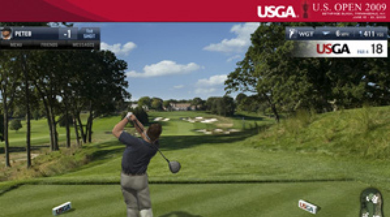 A screenshot from the USGA's new online video game.