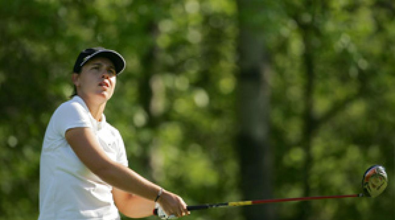 Karine Icher made seven birdies and a bogey on Friday.