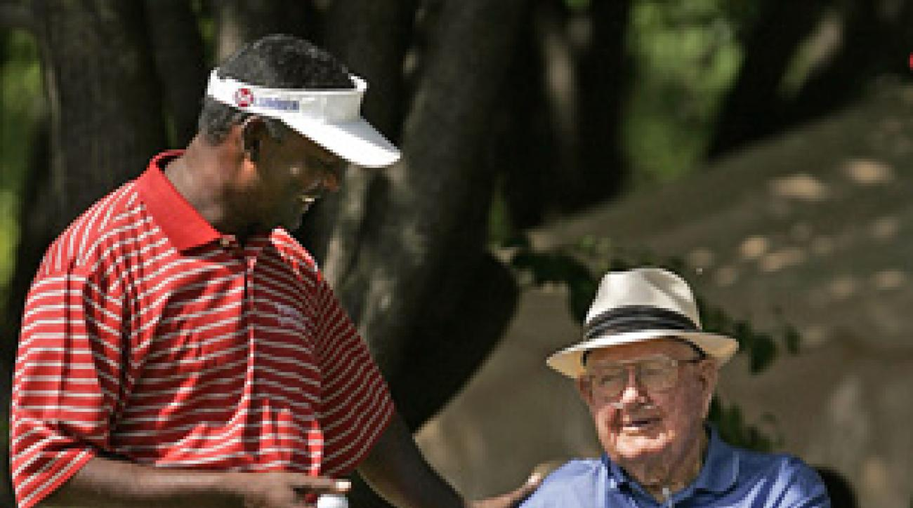 With Nelson (right) gone, both the Tour and the players are showing less respect for his namesake event.